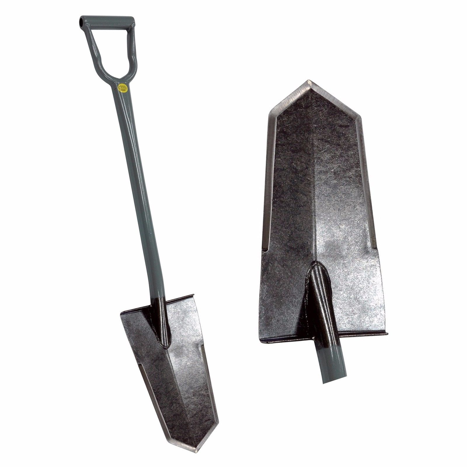 King of Spades Super Sampson Grey D-Handle Shovel with Heat Treated Blade