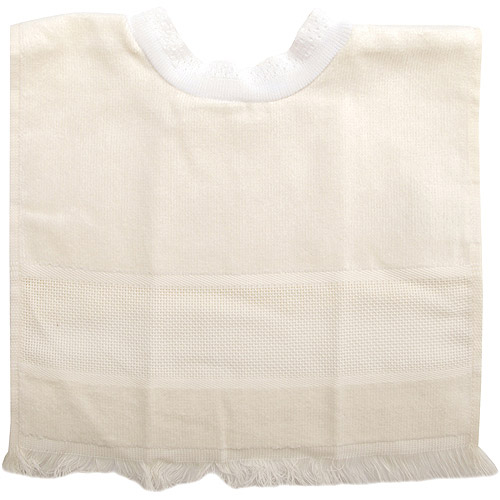 Charles Craft Velour Pullover Toddler Bib With Velcro Shoulder Closure