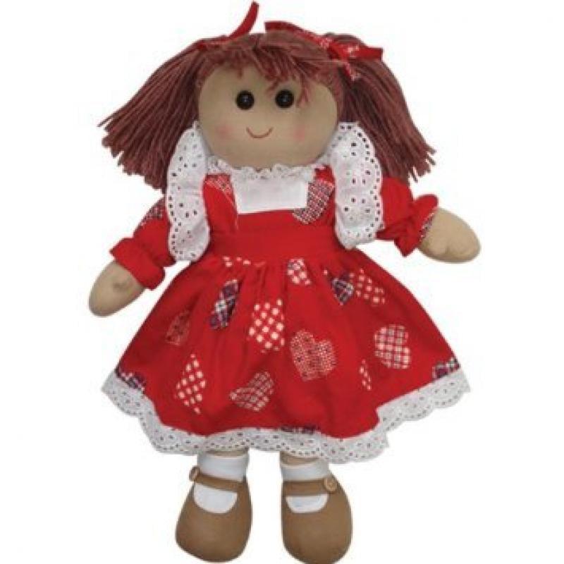 Handmade Rag Doll with Loveheart Dress