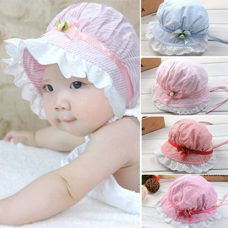 df561e74b37 Toddler Infant Baby Girls Outdoor Flower Bucket Hat Summer Sun Beach Beanie  Cap - Walmart.com