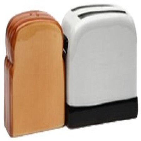 Toaster and ToastMagnetic Ceremic Salt and Pepper Shakers ()
