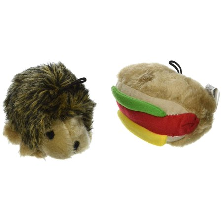 Booda Corporation (Aspen) DAP07549 Soft bite Hottdog/Hedgehog, Small, 2-Pack, These pint-sized plush toys are perfect for your small dog or puppy. By Booda Corporation Aspen
