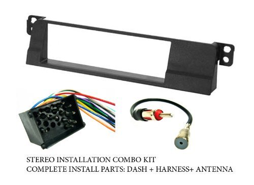 stereo wiring harness, dash install kit faceplate, with fm antenna Ford Stereo Wiring Harness at Stereo Mounting Kit And Wiring Harness