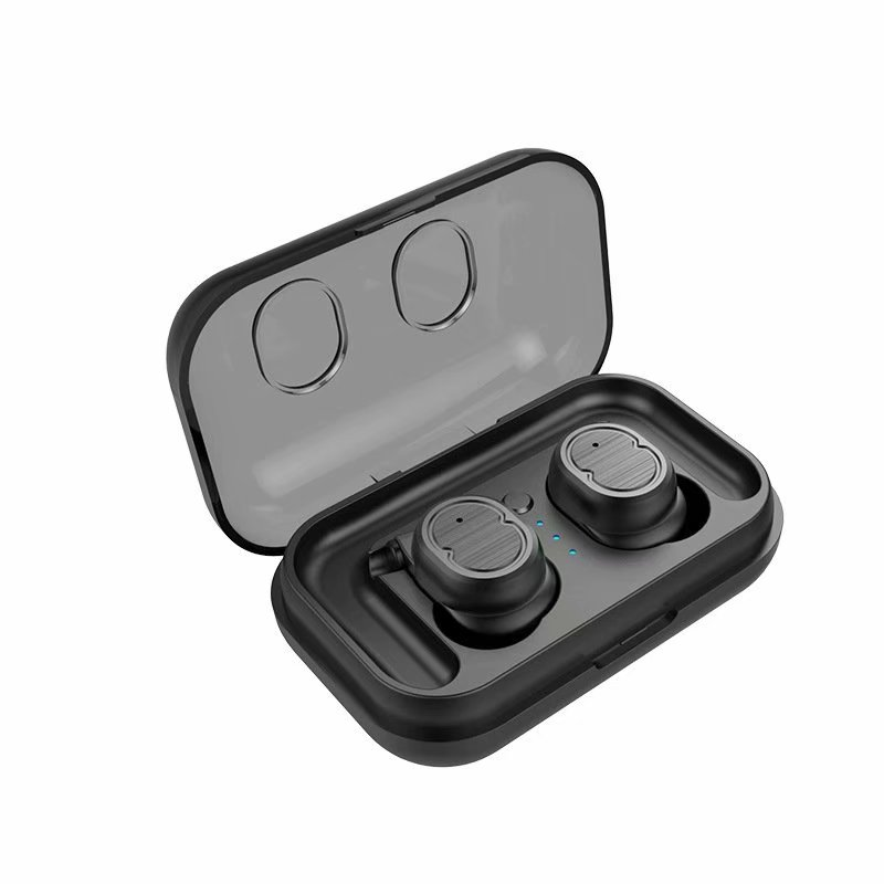 VicTsing Mini True Wireless Earbuds TWS Touch Control Bluetooth 5.0 Headphone Automatic Quick Boot/Pairing HiFi Subwoofer IPX5 Waterproof Bilateral HD Call with Built-in Mic Ear Hooks -Black