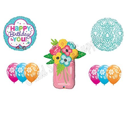 MASON JAR FLOWERS Birthday Party Balloons Decoration Supplies Canning Mom
