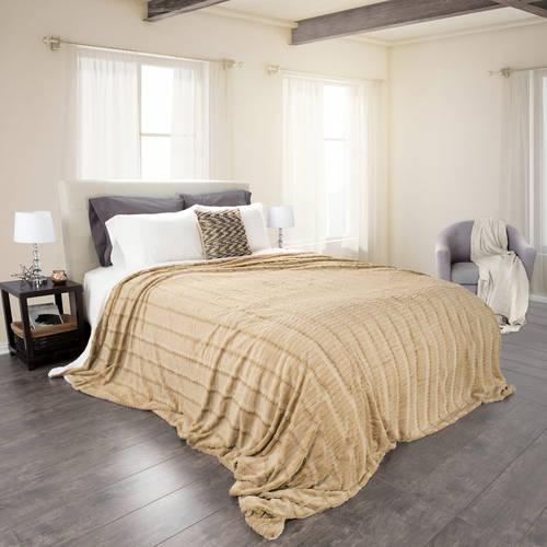 Somerset Home Fleece and Sherpa Blanket