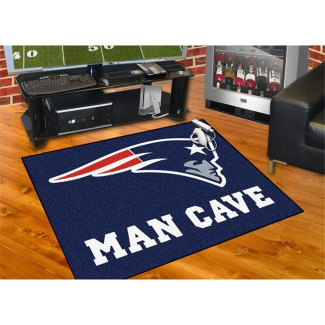 Fan Mats FAN-14332 New England Patriots NFL Man Cave All-Star Floor Mat - 34in x 45in