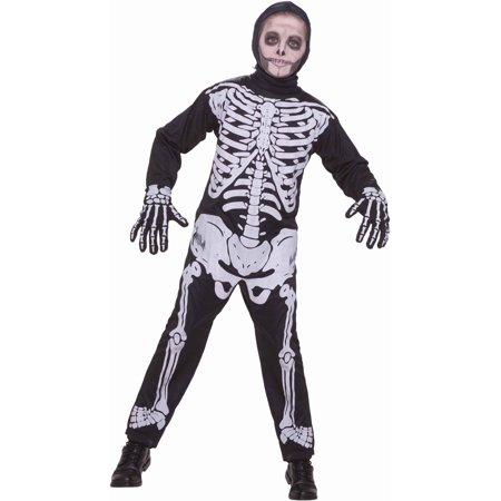 Child Boys Halloween Skeleton Jumpsuit Costume