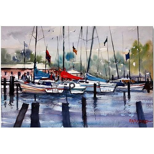 "Trademark Art ""Menominee Marina"" Canvas Art by Ryan Radke"