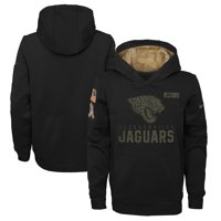 Jacksonville Jaguars Nike Youth 2020 Salute to Service Pullover Performance Hoodie - Black