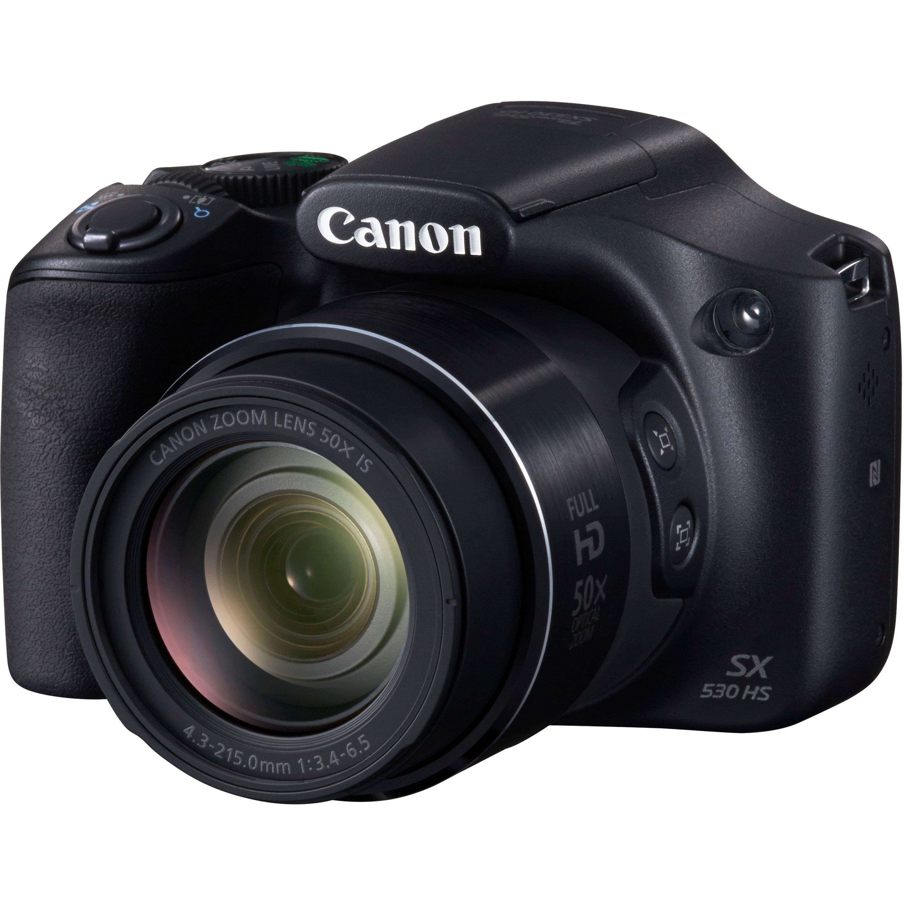 Canon Black PowerShot SX530 HS Digital Camera with 16 Megapixels and 50x Optical Zoom by Canon