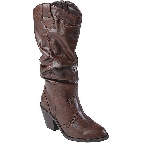 Brinley Co Womens High Heel Slouchy Boot