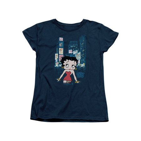 Womens Times Square (Betty Boop Cartoon Character Icon Boop in Times Square Women's T-Shirt)