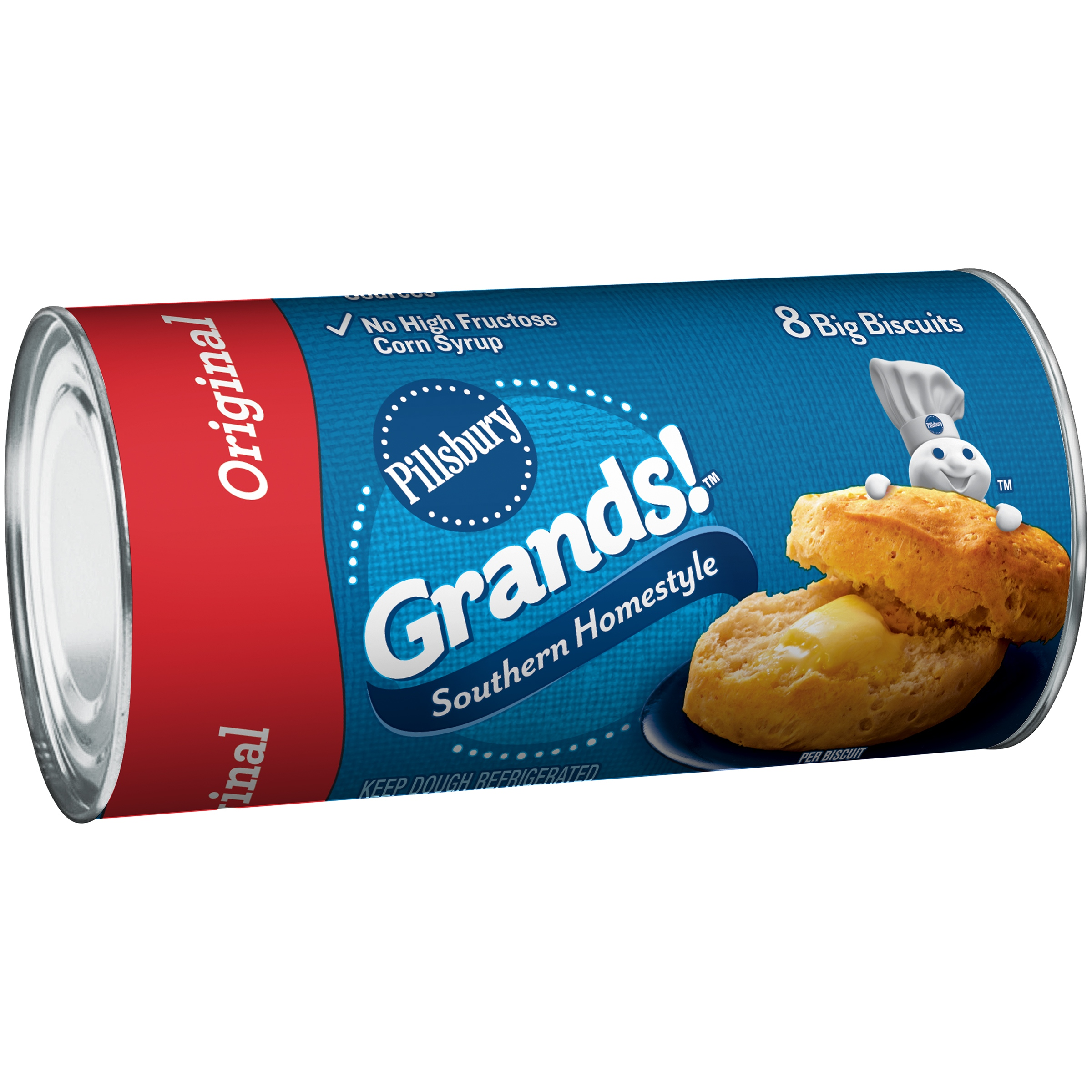 Pillsbury Grands!™ Refrigerated Biscuits Southern Homestyle Original 8 ct 16.3 oz Can