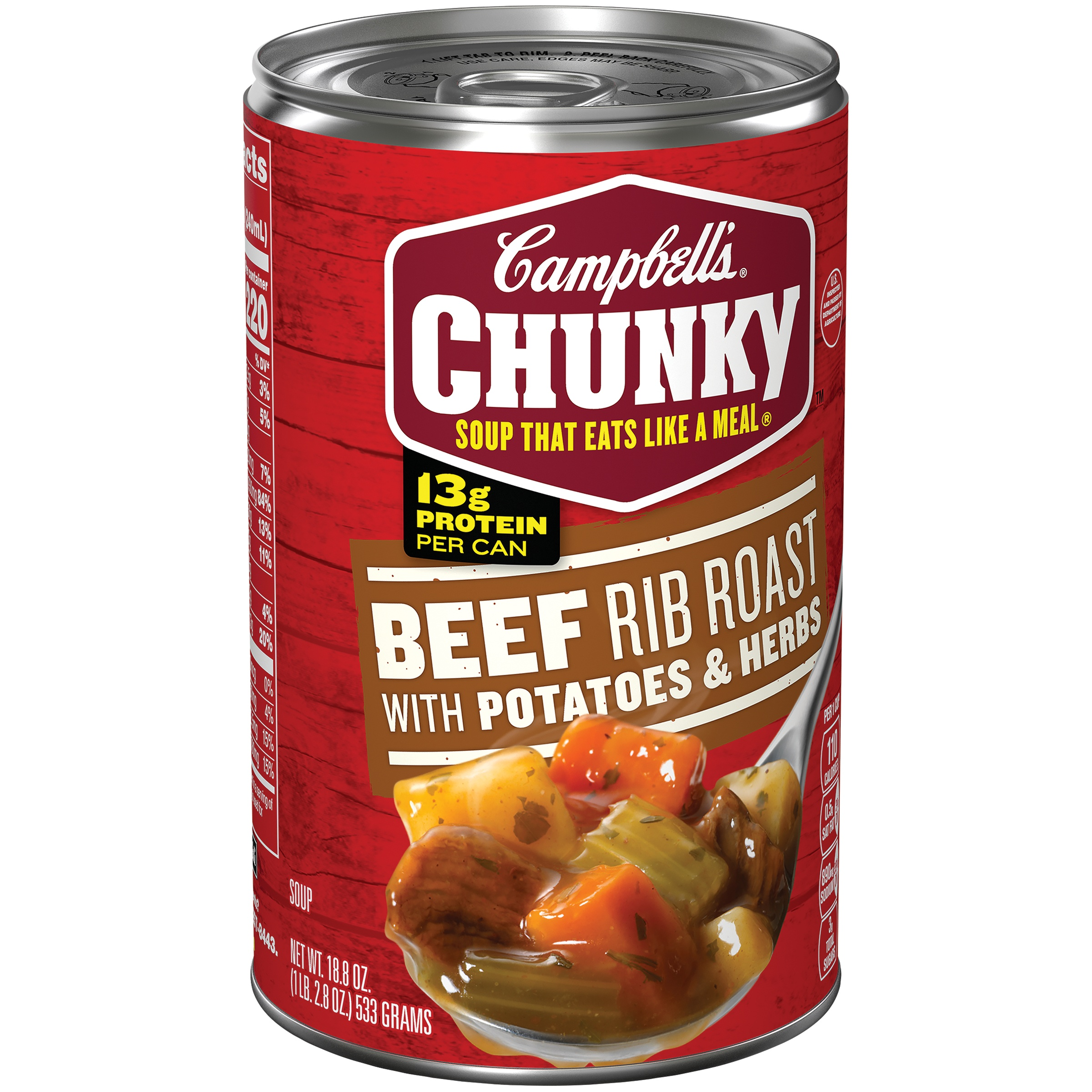 Campbell's Chunky Beef Rib Roast with Potatoes & Herbs Soup, 18.8 oz. by Campbell Soup Company