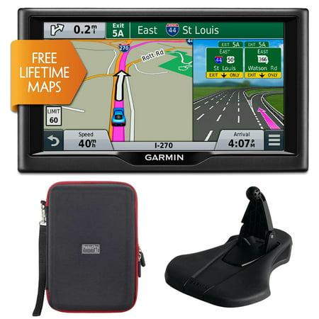 Garmin Nuvi 67Lm 6  010 01399 01 Essential Series 2015 Gps W Lifetime Maps Portable Friction Mount And Pocketpro Xl Hardshell Case Bundle