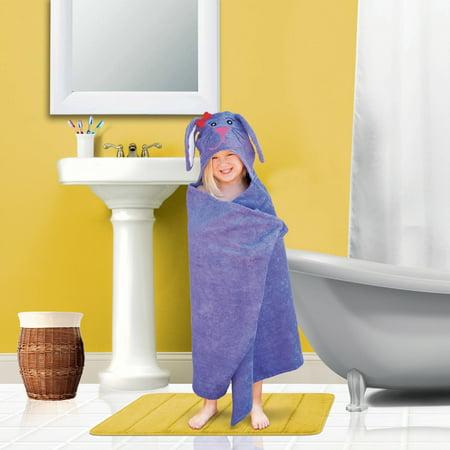 Mainstays Kid's Hooded Bath Towel in Purple Bunny](Hooded Towel Kids)