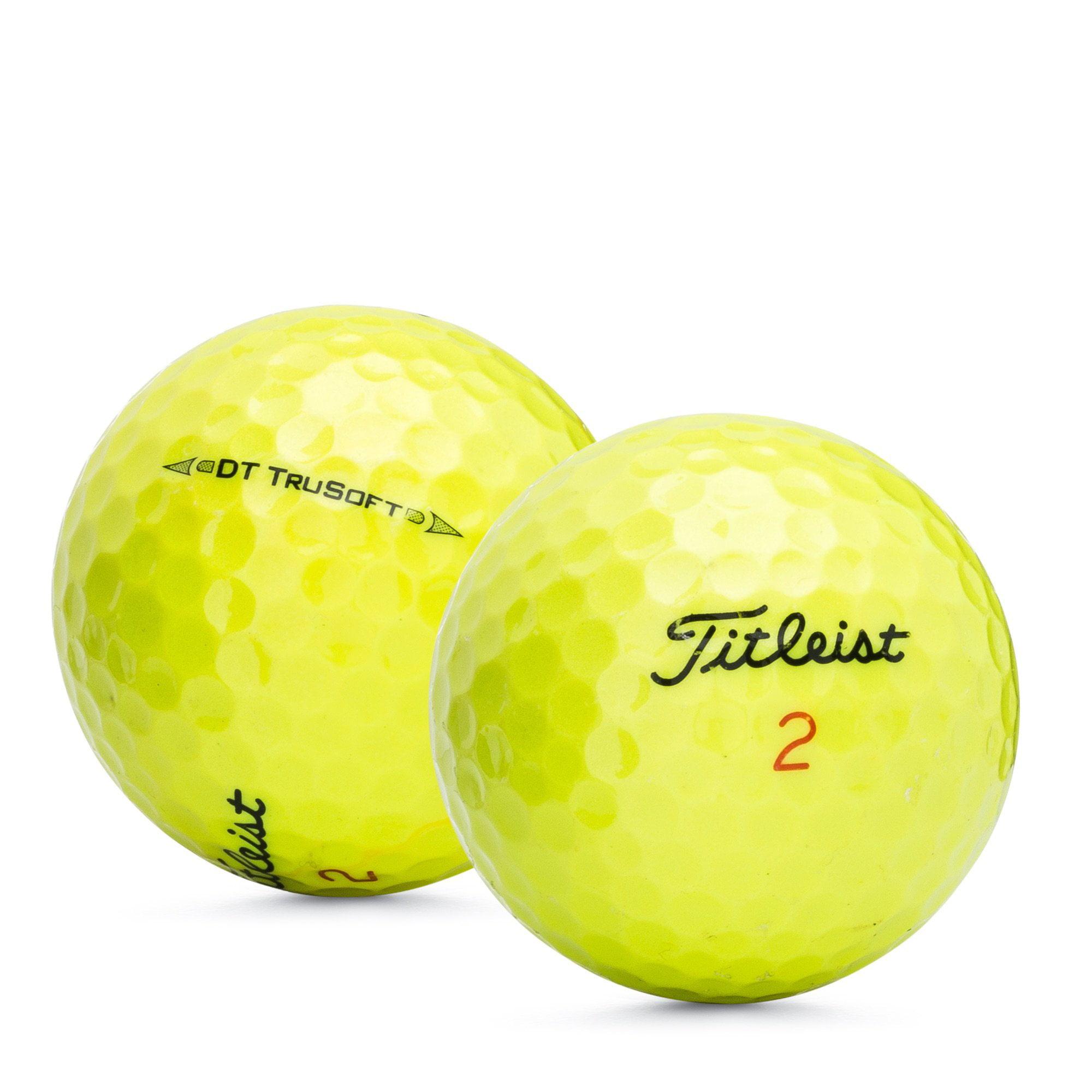 Titleist DT Trusoft Yellow - Mint Quality - 12 Golf Balls