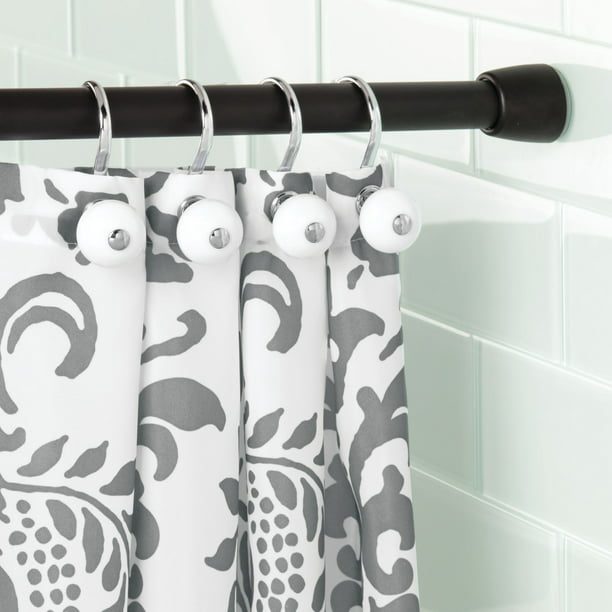Interdesign Shower Curtain Tension Rod, How To Put Curtains On A Tension Rod
