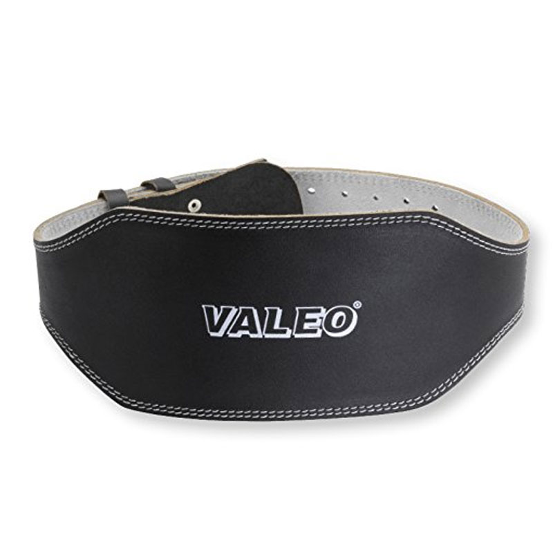 Valeo VRL6 6-Inch Padded Leather Lifting Belt For Men And Women With Back Support for Weightlifting And Suede Lined Foam Lumbar Pad