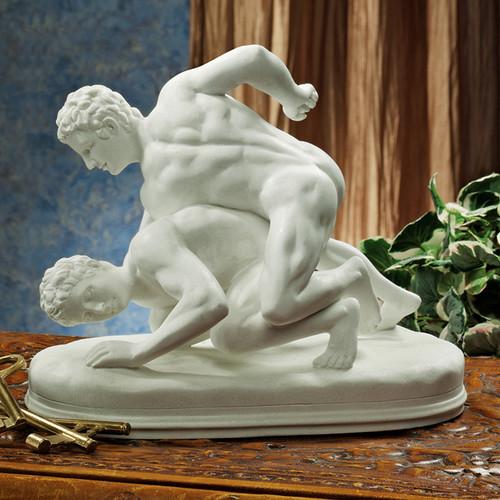 Design Toscano Hellenistic Greek Wrestlers Figurine