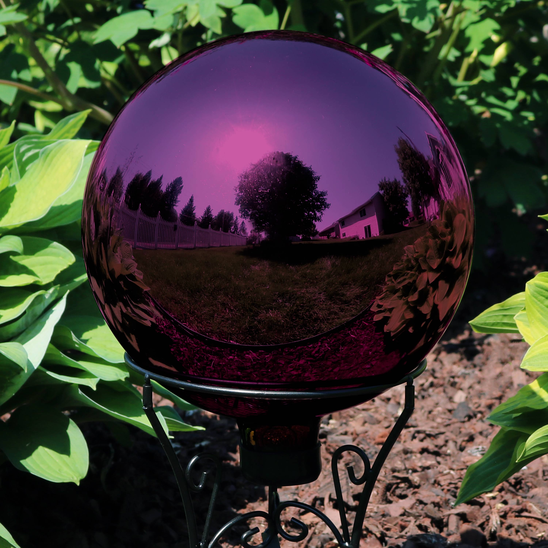 Sunnydaze Merlot Garden Gazing Globe Ball Outdoor Lawn