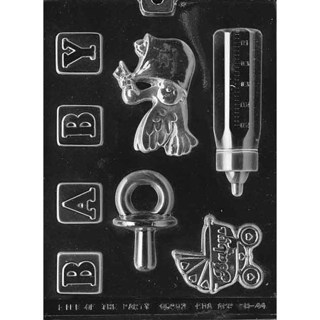 Baby Shower Kit Chocolate Mold - B044 - Includes Melting & Chocolate Molding Instructions