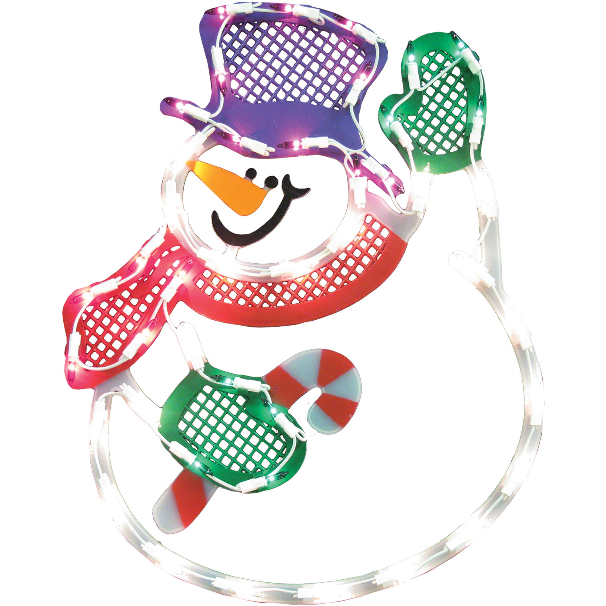 Holiday Time Christmas Decor Light Up Waving Snowman