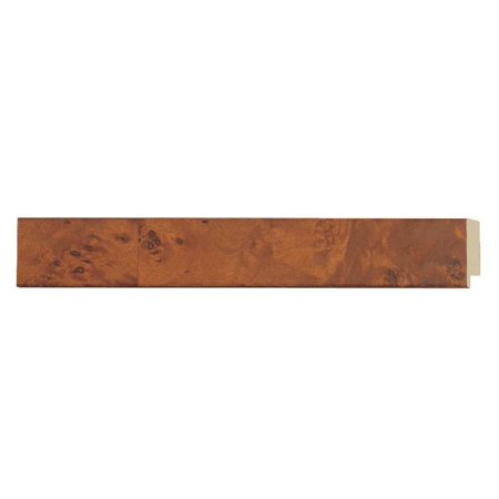 "Picture Frame Moulding (Wood) - Veneer Honey Pecan Finish - 1.125"" width - 3/8"" rabbet depth"