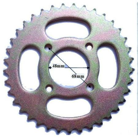 37-Tooth Rear Sprocket (#428), 48mm Center Hole, 4-Bolt For 50cc 70cc 90cc 100cc 110cc DIRT BIKE Pit