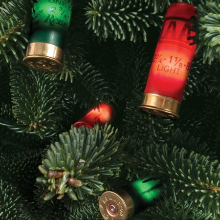 8 foot set of 20 shotgun shell jingle bells christmas tree lights by keystone