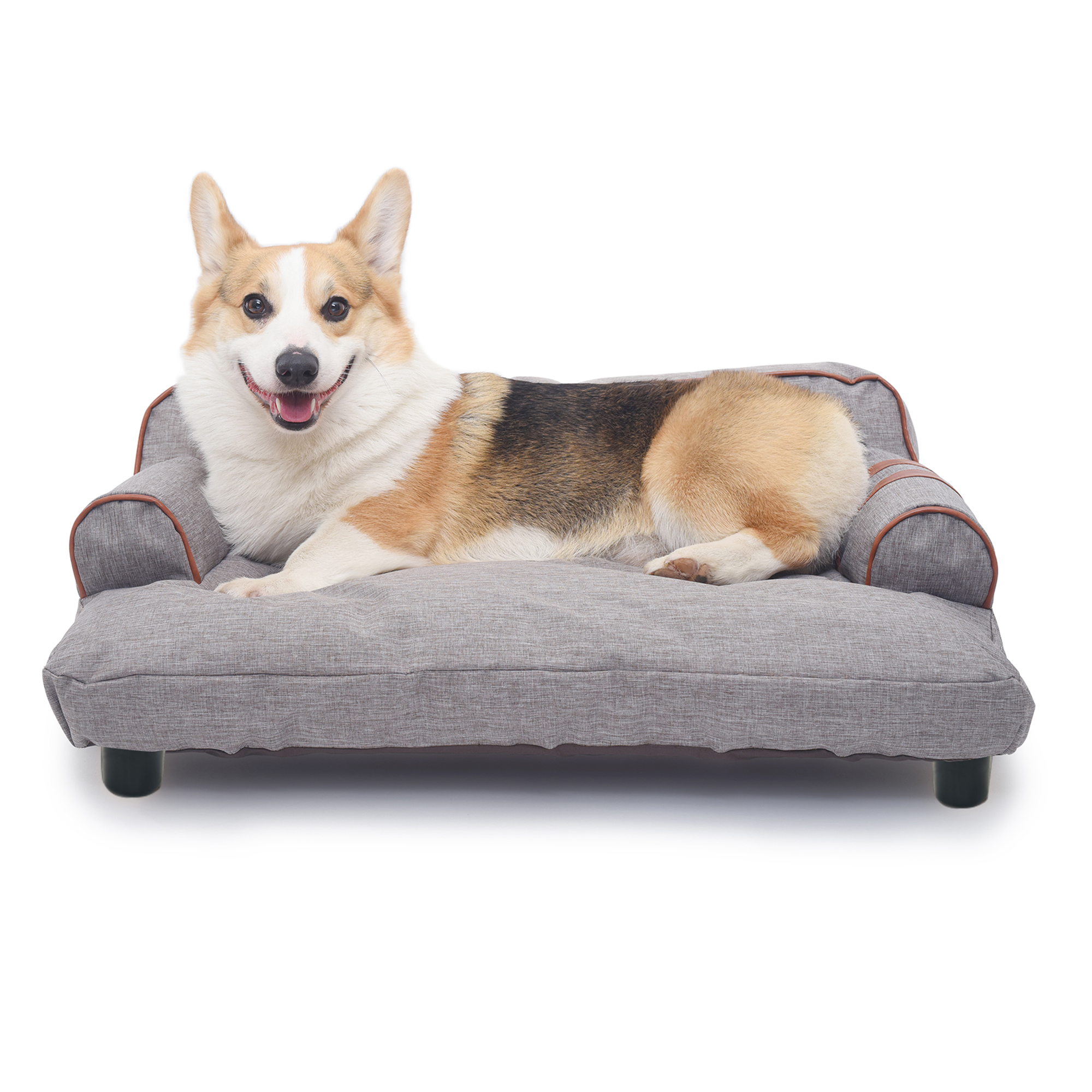 Picture of: Urhomepro Pet Beds For Medium Dogs Dog Beds For Small Dogs Cat Beds For Medium Cats Dog Bed Soft Washable Dog Cat Fabric Pet Sofa Bed Cat Bed Bed Built In Elevated Platform