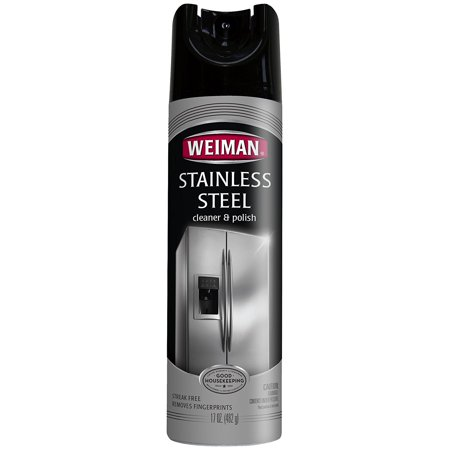 Stainless Steel Cleaner & Polish Aerosol, 17 fl oz, Convenient way to quickly and easily clean, shine and protect your stainless steel appliances By