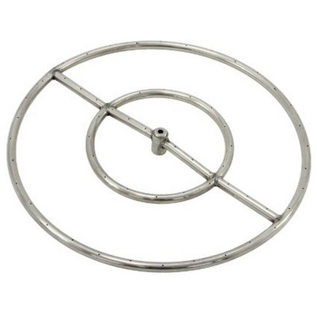 Grand Canyon Gas Logs FRS36 Stainless Steel Triple Fire Ring 0.75 in. Hub, 36 in.