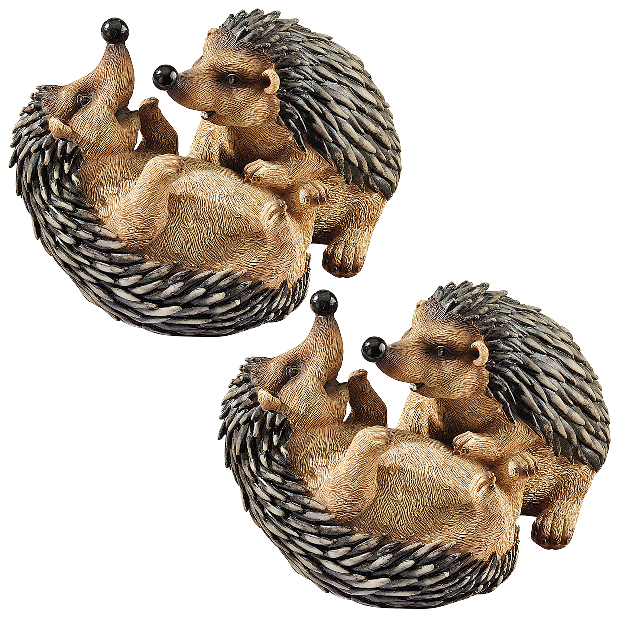 Hyper Hedgehogs Garden Statues: Set of Two by Design Toscano