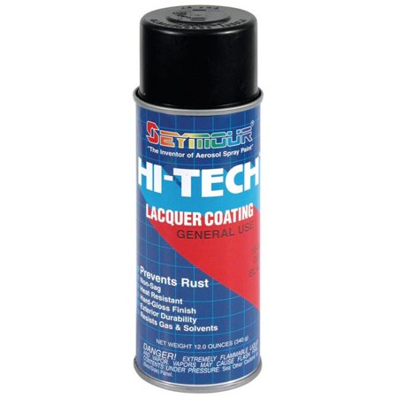 Seymour of Sycamore 16-806 16 oz Hi-Tech Lacquer Spray Paint, Dull Black - Pack of 6 - image 1 of 1