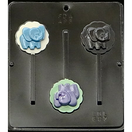 697 Baby Elephant Lollipop Chocolate Candy Mold](Lollipop Molds Baby Shower)