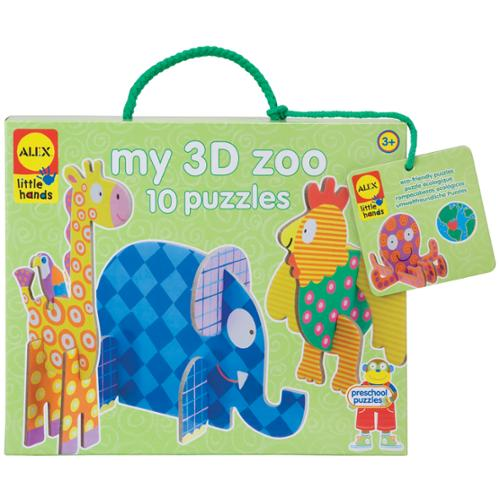 Jigsaw Puzzle 4 Pieces 10/Pkg-My 3D Zoo