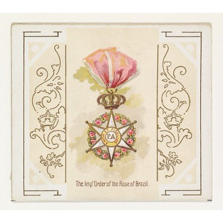 The Imperial Order of the Rose of Brazil from the Worlds Decorations series (N44) for Allen & Ginter Cigarettes Poster Print (18 x 24) - Brazil Decorations