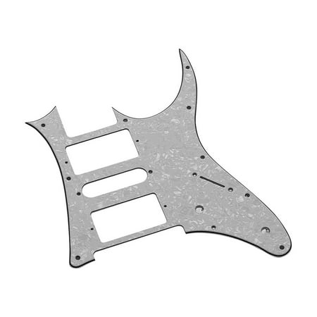 Ibanez Montage (HSH Electric Guitar Pickguard PVC Pick Guard Scratch for Ibanez g250 Guitar Replacement White Pearl 3 Ply)