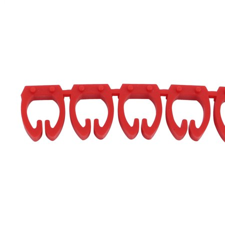 20Pcs Letters P Network Cable Labels Markers Red for 6.0-10.0mm Dia Cable - image 1 of 4