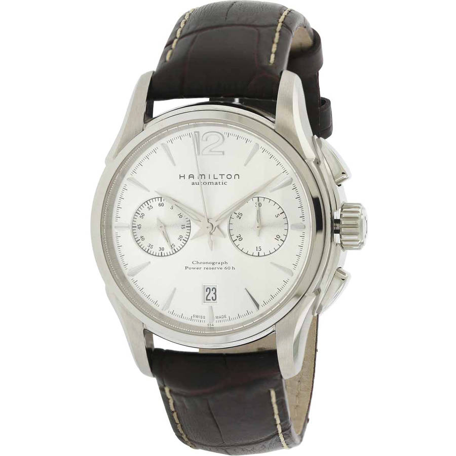 Hamilton American Classic Jazzmaster Chronograph Automatic Leather Men's Watch, H32606855 by Hamilton