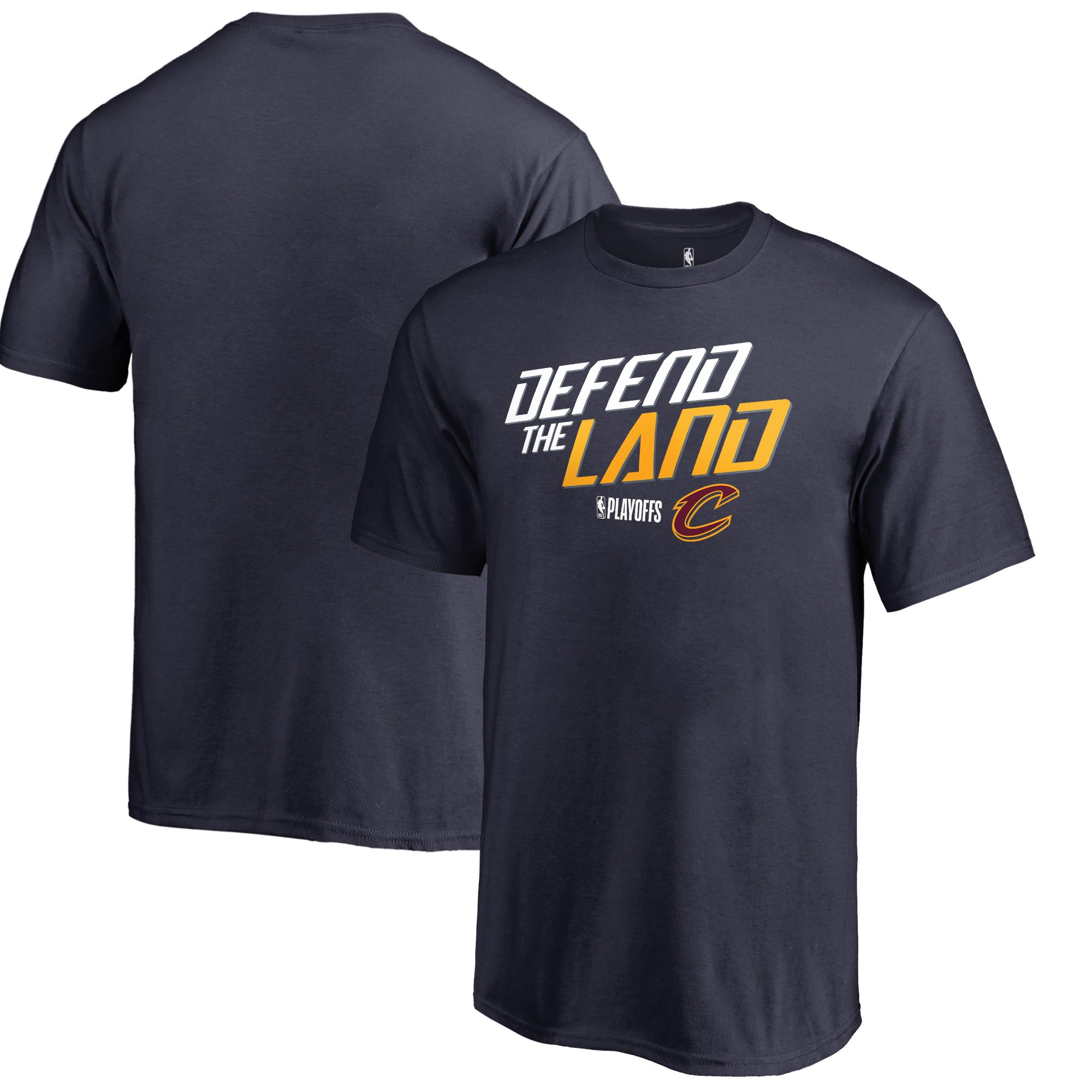 Cleveland Cavaliers Fanatics Branded Youth 2018 NBA Playoffs Slogan T-Shirt -Navy