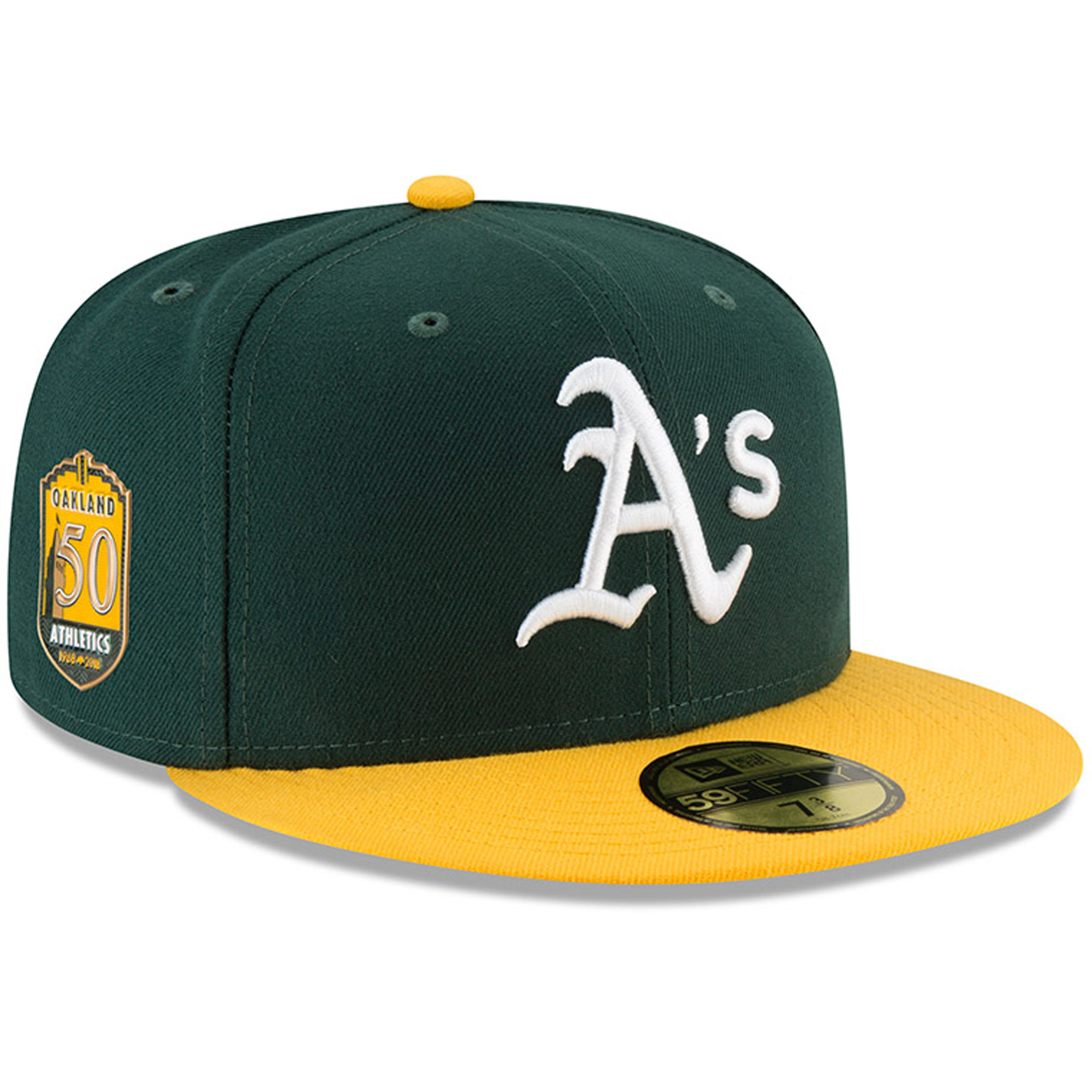 Oakland Athletics New Era Home 50th Anniversary Authentic Collection On-Field 59FIFTY Fitted Hat - Green/Gold