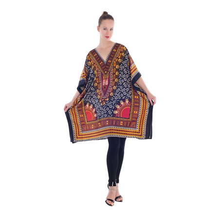 bc1ad74f40f71 Goood Times - Multicolor Women's Tunic Short Plus Size Kaftan Dresses for Women  Casual Short Sleeve Summer Beach Women Caftan Tunics Tops by Goood Times ...