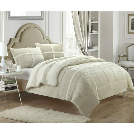 Chic Home Chiron 2-Piece Sherpa Lined Comforter Set ()