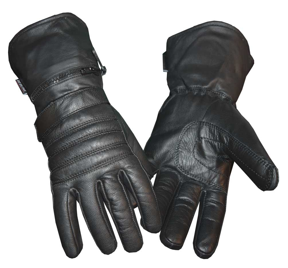 Redline Men's Winter Gauntlet Thinsulate Leather Gloves w/ Rain Cover G-051
