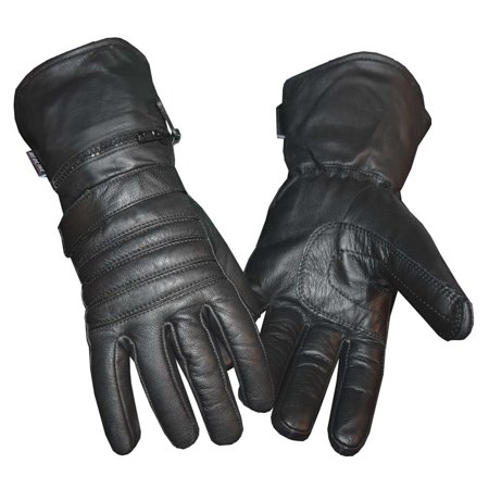 Redline Mens Winter Gauntlet Thinsulate Leather Gloves W  Rain Cover G 051