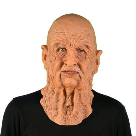 Halloween Old Mask (Zagone Studios Supersoft Dead On Arrival Old Man Latex Halloween Adult Costume Mask (one)