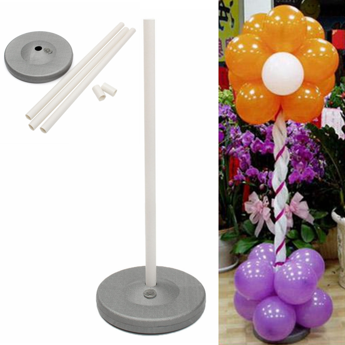 1Set Balloon Column Base Stand Display Kit Water Fillable Base ...